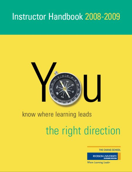 instructor handbook 2008-2009 the right direction